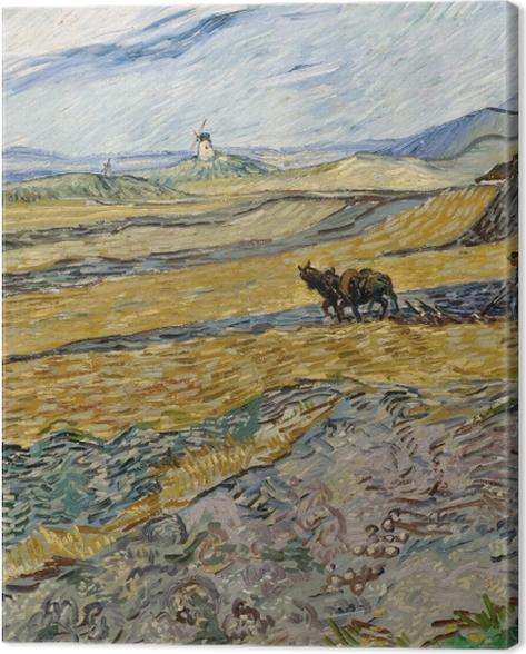 Tableau sur toile Vincent van Gogh - Laboureur dans un champ - Reproductions