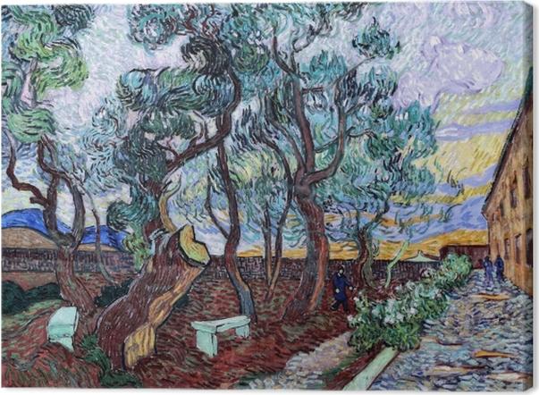 Tableau sur toile Vincent van Gogh - Le jardin de l'hôpital St. Paul à Saint-Rémy - Reproductions