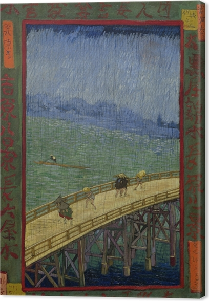 Tableau sur toile Vincent van Gogh - Le pont à Regen - Reproductions