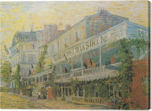 Tableau sur toile Vincent van Gogh - Le Restaurant de la Sirène à Asnières - Reproductions