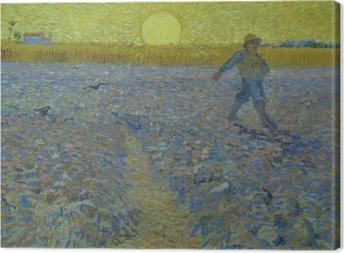 Tableau sur toile Vincent van Gogh - Le semeur au coucher du soleil