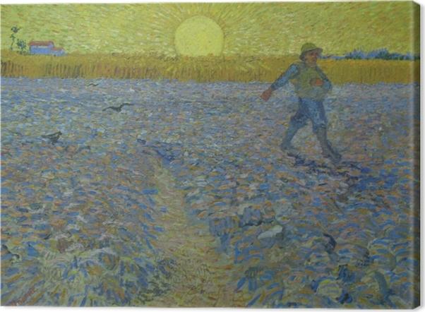 Tableau sur toile Vincent van Gogh - Le semeur au coucher du soleil - Reproductions