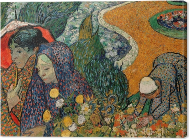 Tableau sur toile Vincent van Gogh - Les Femmes d'Arles (Souvenir du jardin à Etten) - Reproductions