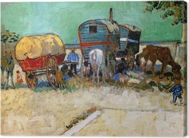 Tableau sur toile Vincent van Gogh - Les roulottes, campement de bohémiens - Reproductions