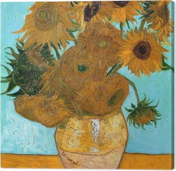 Tableau sur toile Vincent van Gogh - Les Tournesols - Reproductions
