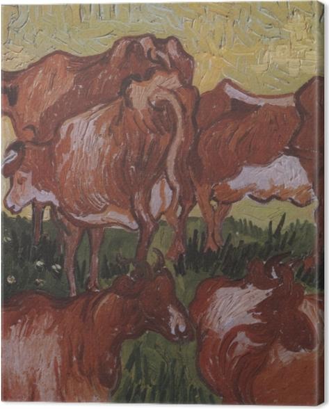 Tableau sur toile Vincent van Gogh - Les vaches - Reproductions