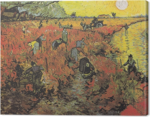 Tableau sur toile Vincent van Gogh - Les vignes rouges d'Arles - Reproductions