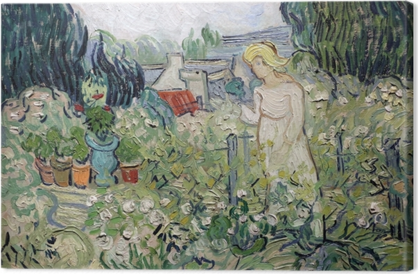 Tableau sur toile Vincent van Gogh - Mademoiselle Gachet dans son jardin à Auvers - Reproductions