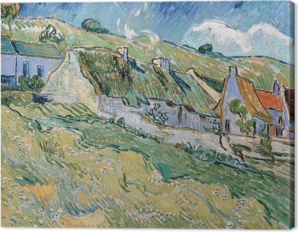 Tableau sur toile Vincent van Gogh - Maisons à Auvers-sur-Oise - Reproductions