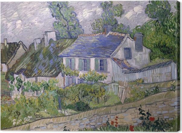 Tableau sur toile Vincent van Gogh - Maisons à Auvers - Reproductions