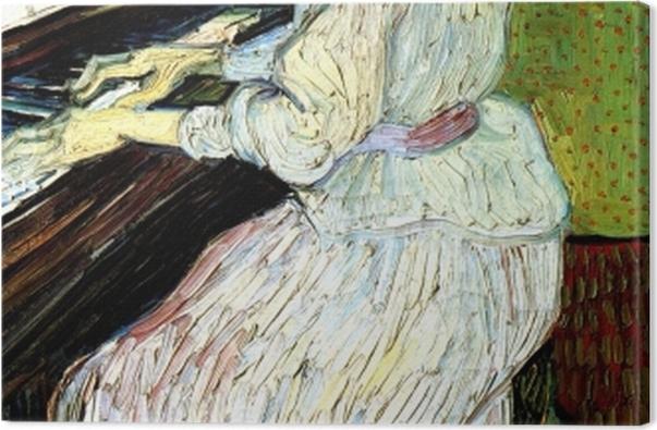 Tableau sur toile Vincent van Gogh - Marguerite Gachet au piano - Reproductions