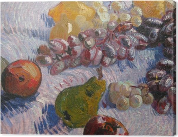 Tableau sur toile Vincent van Gogh - Nature morte avec raisins, pommes, poires et citrons - Reproductions