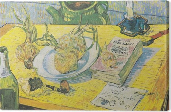 Tableau sur toile Vincent van Gogh - Nature morte avec une bouilloire, un tuyau et d'oignons - Reproductions