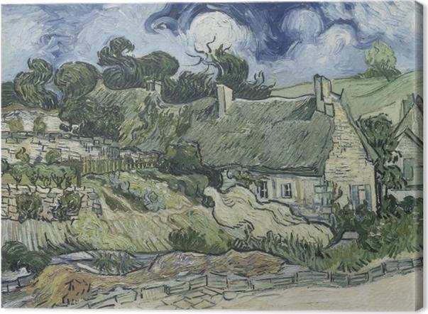 Tableau sur toile Vincent van Gogh - Paysage avec Cottages - Reproductions