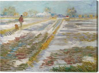 Tableau sur toile Vincent van Gogh - Paysage avec la neige