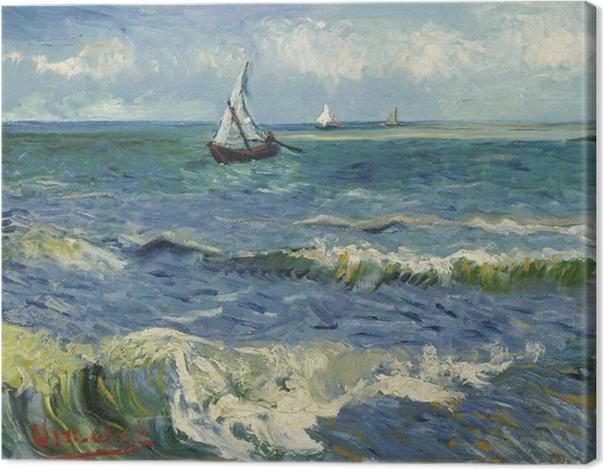Tableau sur toile Vincent van Gogh - Paysage marin à Saintes-Maries - Reproductions
