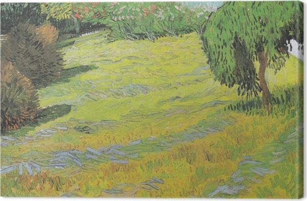 Tableau sur toile Vincent van Gogh - Pelouse ensoleillée dans un parc public - Reproductions