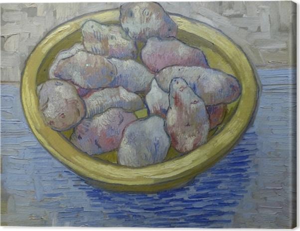 Tableau sur toile Vincent van Gogh - Pommes de terre dans un plat jaune •  Pixers® - Nous vivons pour changer