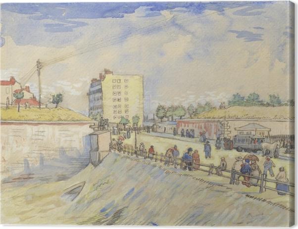 Tableau sur toile Vincent van Gogh - Porte dans les Ramparts Paris - Reproductions