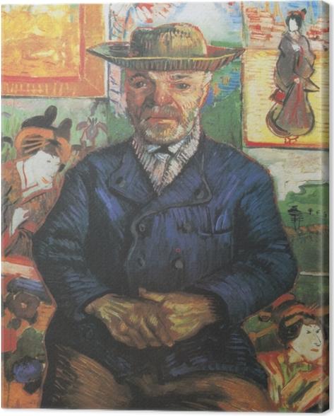 Tableau sur toile Vincent van Gogh - Portrait du père Tanguy - Reproductions
