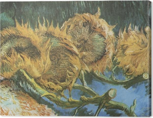 Tableau sur toile Vincent van Gogh - Quatre tournesols coupés - Reproductions