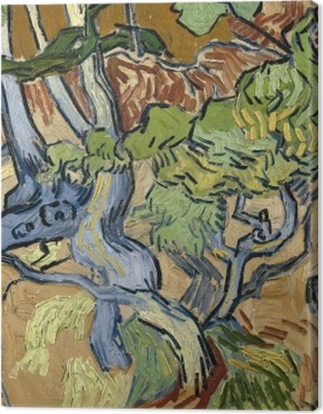 Tableau sur toile Vincent van Gogh - Racines d'arbre - Reproductions