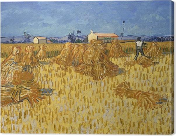 Tableau sur toile Vincent van Gogh - Récolte en Provence - Reproductions