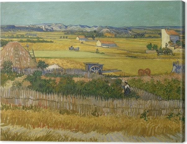 Tableau sur toile Vincent van Gogh - Récolte - Reproductions