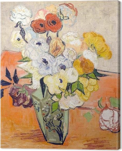 Tableau sur toile Vincent van Gogh - Roses et anémones - Reproductions