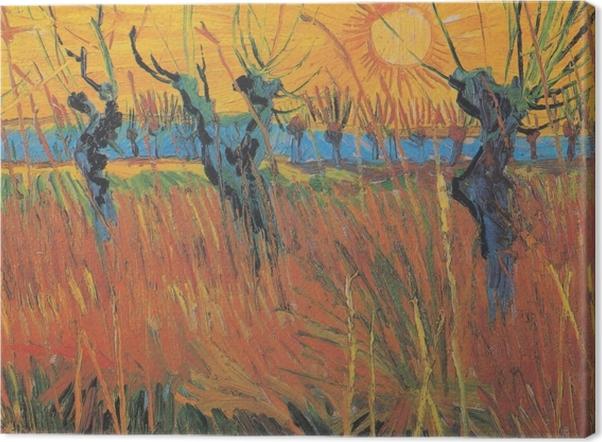 Tableau sur toile Vincent van Gogh - Saules au soleil couchant - Reproductions