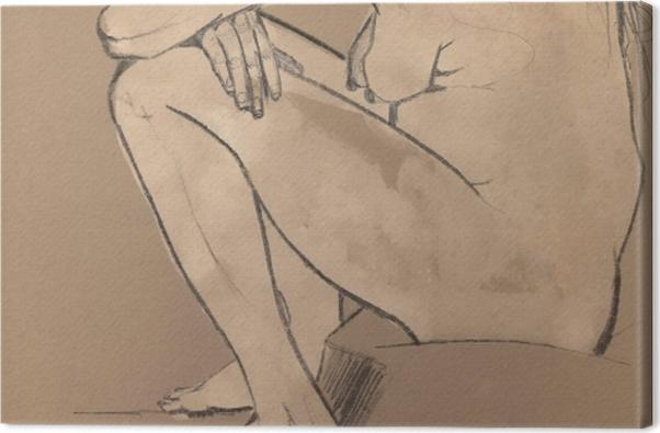 Tableau sur toile Vincent van Gogh - Sorrow - Reproductions