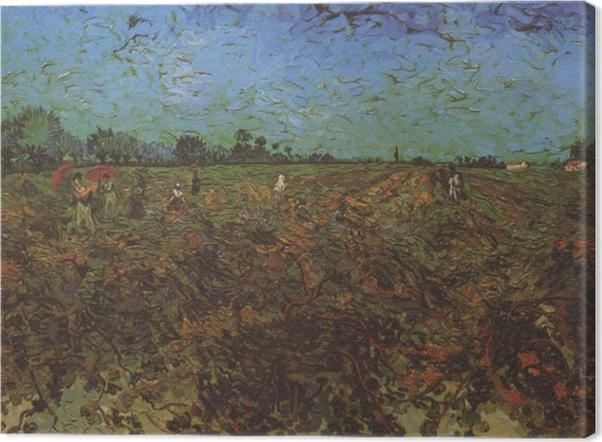 Tableau sur toile Vincent van Gogh - The Green Vineyard - Reproductions