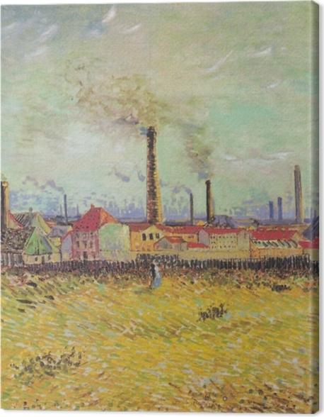 Tableau sur toile Vincent van Gogh - Usines à Asnières - Reproductions
