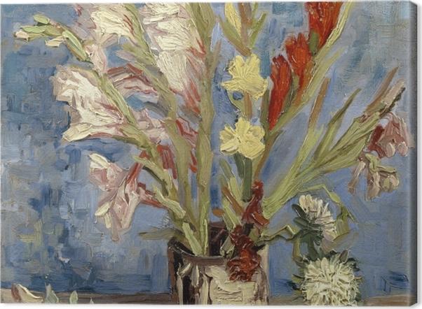 Tableau sur toile Vincent van Gogh - Vase avec Glaïeuls - Reproductions