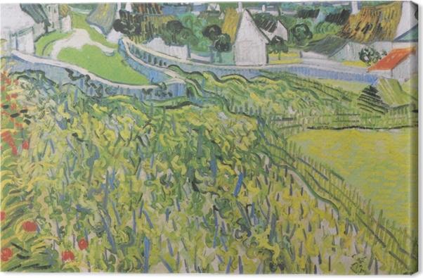 Tableau sur toile Vincent van Gogh - Vignobles à Auvers - Reproductions