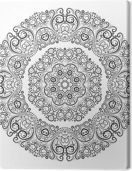 Tableau sur toile Vintage fond antique ornement. Vector illustration.
