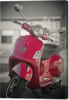 Tableau sur toile Vintage scooter