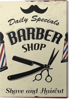 Tableau sur toile Vintage Styled Barber Shop