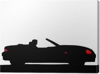 Tableau sur toile Voiture de sport silhouette