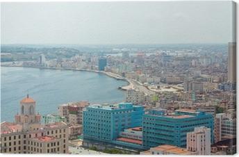 Tableau sur toile Vue aérienne de la côte Havane