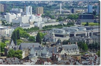 Tableau sur toile Vue aérienne de Nantes