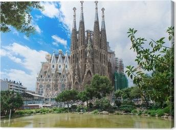 Tableau sur toile Vue de la Sagrada Familia à Barcelone. Espagne
