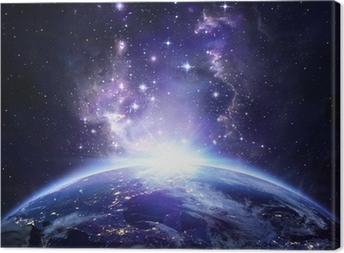 Tableau sur toile Vue de la Terre depuis l'espace la nuit - USA
