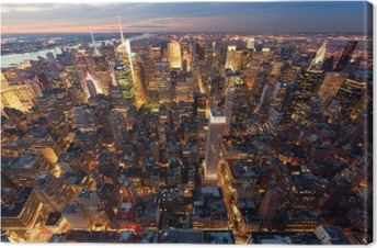 Tableau sur Toile Vue de Manhattan à vol d'oiseau