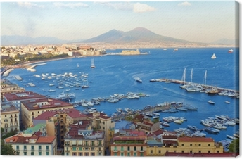 Tableau sur toile Vue sur la baie de Naples