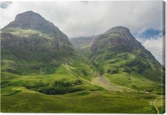 Tableau sur toile Vue sur la montagne en Ecosse dans le Glencoe