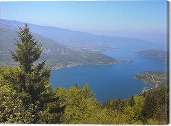 Tableau sur toile Vue sur le lac d'Annecy depuis le Col du Forclaz