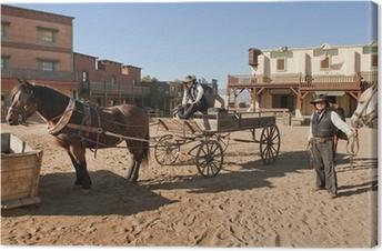 Tableau sur toile Western Town Film fixé à Mini Hollywood Espagne