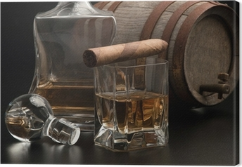 Tableau sur toile Whisky & Sigaro