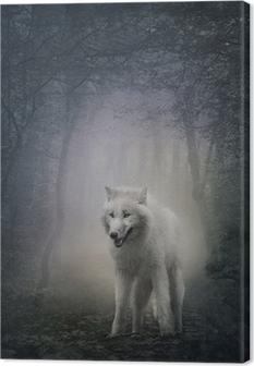 Tableau sur toile White wolf